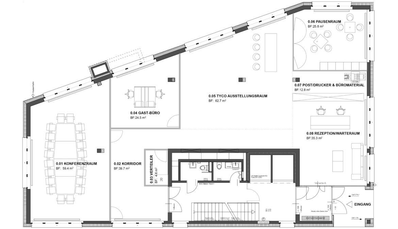Büroausbau Geschäftshaus 9