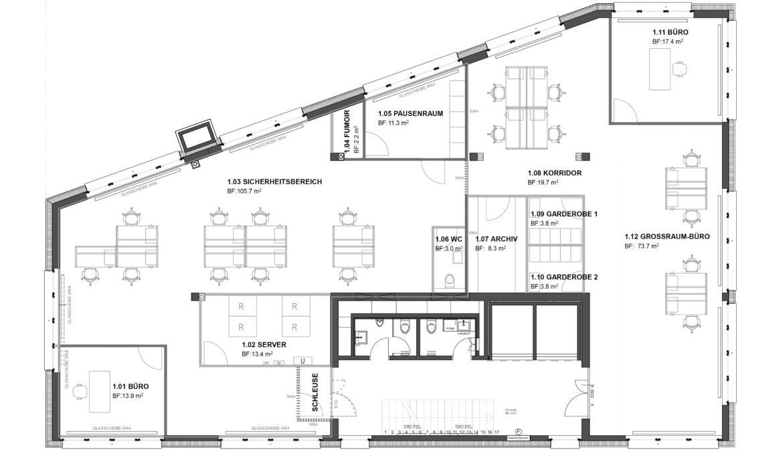 Büroausbau Geschäftshaus 10