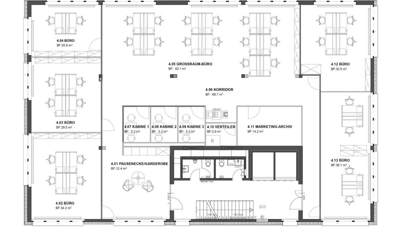 Büroausbau Geschäftshaus 11
