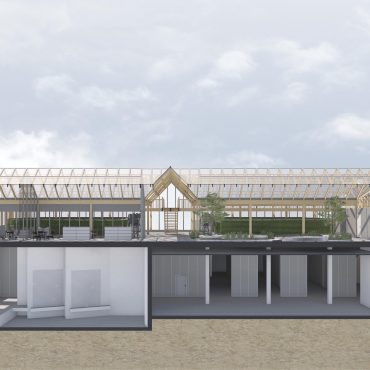 Neubau Urban-Farming Industriehalle