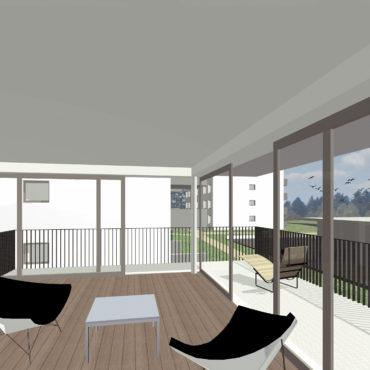 Wettbewerb Wohnsiedlung Baugenossenschaft Burgmatte 1