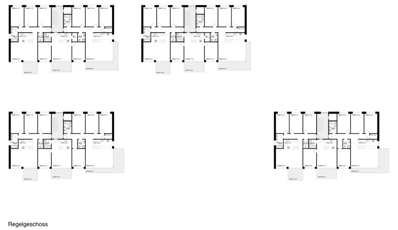 Wettbewerb Wohnsiedlung Baugenossenschaft Burgmatte 10
