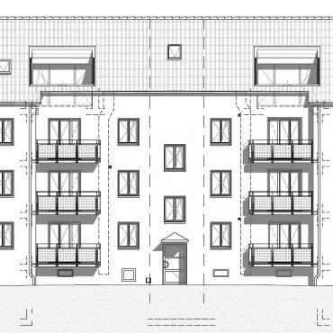 Dachstockausbau, Fassaden- und Bädersanierung MFH 4