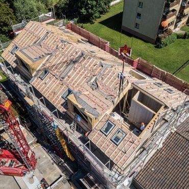 Dachstockausbau, Fassaden- und Bädersanierung MFH 3